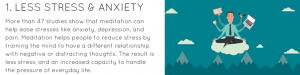 LESS STRESS & ANXIETY
